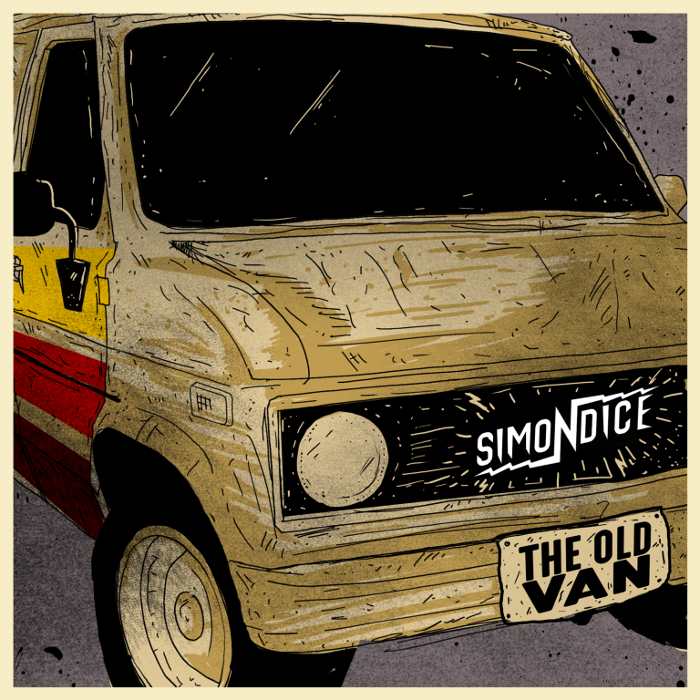 Simon Dice Rock: The Old Van EP disc Cover