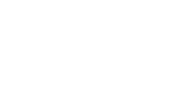Simon Dice Rock logo. Color White